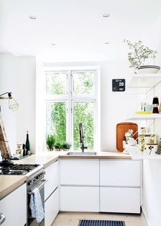 scandinavian home_ikea kitchen_smeg stove