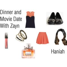 """""""Haniah: Dinner and Movie Date With Zayn"""" by ashxzx on Polyvore"""