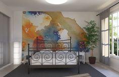 Orange and Blue - Wall Mural & Photo Wallpaper - Photowall