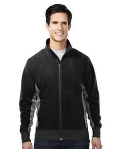 Men's Fleece Color Blocking Fully Placket Jacket (100% Polyester)  Style#: Tri mountain 7285 #Fleece #Colorblocking #Jacket
