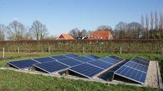 Afbeeldingsresultaat voor esthetische oplossing zonnepanelen in tuin