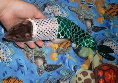 mermaid costume for pet rat