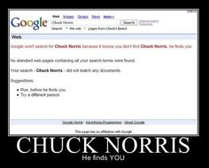 Chuck Norris jokes are old, but this is still funny. I like the suggestions at the bottom.
