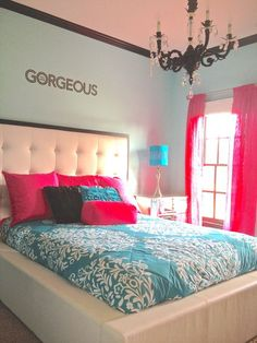 Small bedroom designs, Teen girl bedrooms and Small bedrooms on . Blue Teen Girl Bedroom, Teen Girl Bedrooms, Girl Room, Teen Rooms, Cute Bedroom Ideas, Awesome Bedrooms, Cool Rooms, Dream Rooms, Dream Bedroom
