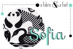 Black and White Animals by Timeless Treasures & Sofia Fonts, Entertaining, Black And White, Fabric, Blog, Crafts, Animals, Inspiration, Design