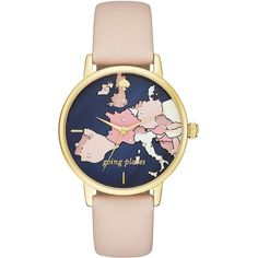 Kate Spade Going Places Metro Watch ($195) ❤ liked on Polyvore featuring jewelry, watches, kate spade, gold-tone watches, kate spade watches, dial watches and kate spade jewelry
