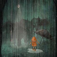 "Maja Lindberg on Instagram: """"The Rain"" #artprint #wallart #art #artistsoninstagram #etsy #etsyshop #etsyseller #etsystore #illustration #illustrationartists…"" Illustration Artists, Illustrations, Graphic Illustration, Background Drawing, Watercolor Background, Watercolour Art, Klimt, Art Nouveau, Rain Painting"