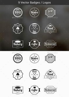 Food Badges Vectors | Buy and Download: http://graphicriver.net/item/food-badges-vectors/9924878?ref=ksioks