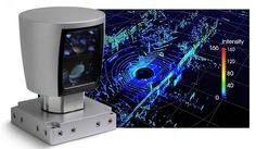HDL-64E LiDAR sensor。アメリカに拠点を置くVelodyne Inc.が開発した周囲360度の物体を検知するシステムの一つ。非常に小型高性能なのでGoogle Inc.の自動運転車および各国軍向けドローンに使われる。