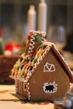 Decorating a pepparkakshust (a gingerbread house) is an essential part of the build-up to Christmas in Sweden. Of course, you can buy gingerbread house kits, but it is much more fun to make your own. If you download our template it is easy to make and, of course, it tastes so much better! Swedish Christmas, Xmas, Kingdom Of Sweden, Gingerbread House Kits, Swedish Recipes, Christmas Goodies, Danish, Homestead, Make Your Own