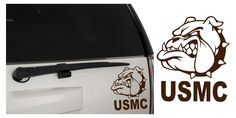 United States Marine Corps (USMC) Bulldog Matte Indoor/Outdoor Vinyl Decal Sticker, MultiPurpose - For Your Auto, Wall, Window and More!  Purchase this product along with all of our other spectacular decals through one of the following links:   https://www.etsy.com/shop/MiaBellaDesignsWI  http://www.amazon.com/s?marketplaceID=ATVPDKIKX0DER&me=A2MSEOIVL689S1&merchant=A2MSEOIVL689S1&redirect=true