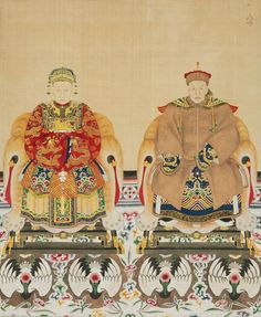 Chinese Artwork, Chinese Painting, Chinese Emperor, Ancient China, Qing Dynasty, Silk Painting, Chinoiserie, Japanese Art, Oriental