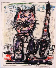 Kees Salentijn Dutch b. 1947 Cat Series 2011