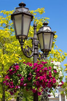 Image of 'Old street lamp in the old town of Odessa, Ukraine'
