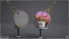 ArtStation - Fortnite Season 5 Environment Assets, Josh Marlow Diner Sign, Marlow, Environment, Seasons, Seasons Of The Year