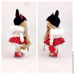 Купить Маленькая интерьерная кукла Микки - интерьерная кукла, коллекционная кукла, текстильная кукла, Снежка