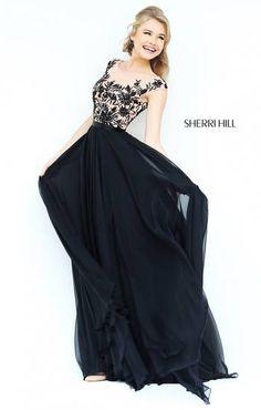 Sherri Hill Style 11214 aka The Best Floral Black Dress I've Ever Seen.