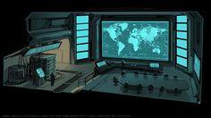 XCOM Situation Room by zombat on deviantART