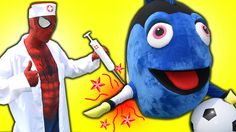 Finding Dory Breaks Her Arm! Spiderman Doctor, Finding Dory & Minion Sup...