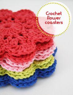 Crochet Flower Coasters