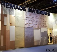 All kind of remade materials are beeing developed to stop the huge amount of waste.