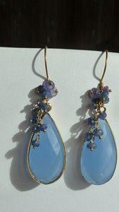 bezel chalcedony and sapphire