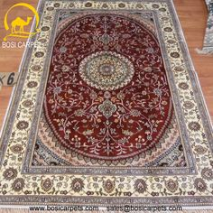 Hand knotted silk rug # Rug No.: P4155 # Quality: 150L (156kpsi) # Size:4x6ft (122x183cm) # Material: 100% Silk # wholesale Price: $384/piece # If you have any interests, please email to sales@bosicarpets.com    Hand-madecarpet#orienatlrug#oldrug#Kashmirrug#Chinacarpet#Iraniancarpet#boteh#HeratiGul# Isfahan#Tabriz#Qum#Nain#Kashan#Kerman#Bijar#Sarouk#Caucasian#antiquecarpet#bosicarpet