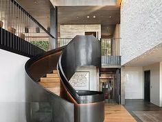 Luxury Staircase, Staircase Design, Mega Mansions, Mansions Homes, Fancy Houses, Modern Luxury, Bel Air, Home And Family, Stairs