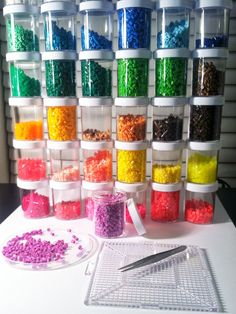 Perler bead container storage by Lisa CRAFT ROOMS Pinterest