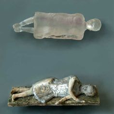 Dreaming  - Christina Bothwell  cast glass, cast aluminum, and raku fired clay