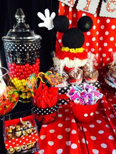 Mickey Mouse Birthday Party Theme Candy Buffet
