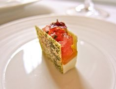 Tuna Tartare and Bonito Croquant at Eleven Madison