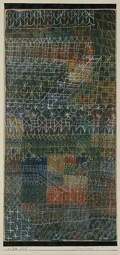 Estructural I Paul Klee (alemán (nacido en Suiza), Münchenbuchsee 1879-1940 Muralto-Locarno) Fecha: 1924 Medio: Gouache sobre cartón, bordeado con tinta Dimensiones: 11 1/4 x 5 1/2in. (28,6 x 14cm) 19 1/2 x 13 x 1 1/4 pulgadas (49,5 x 33 x 3,2 cm) (Frame) Clasificación: Dibujos Línea de crédito: La Colección Berggruen Klee, 1984