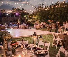 5 Amazing Outdoor Wedding Ideas For Brides On A Budget | SHEfinds Outdoor Wedding Reception, Outside Wedding, Small Backyard Weddings, Outdoor Wedding Lights, Cheap Backyard Wedding, Beach Weddings, Intimate Weddings, Cute Wedding Ideas, Wedding Themes