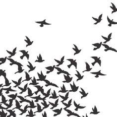 Silhouette bird tattoo designs