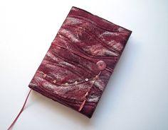 Notebook, Sketchbook, Journal Cover, A5, Handmade Felt, 'Ruby' £35.00