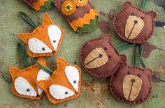 Sötaste djurjulhängena är gjorda av filt