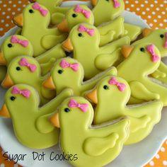 Sugar dot cookies buy baby shower cookies online awesome custom sugar cookies decorated with royal icing Duck Cookies, Cookies For Kids, Baby Cookies, Baby Shower Cookies, Easter Cookies, Royal Icing Cookies, Sugar Cookies, Owl Cookies, Baking Cookies