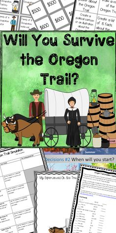 $ This simulation helps students understand the obstacles faced by pioneers traveling along the Oregon Trail.  It includes: -30 slide simulation game -supply price list -choice chart -simulation directions -budgets and family profile -extension activities