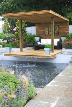 The best and easiest pergola gazebo ideas only on this page Backyard Garden Landscape, Backyard Gazebo, Backyard Patio Designs, Backyard Landscaping, Back Yard Gazebo Ideas, Patio Ideas, Sloped Backyard, Backyard House, Garden Gazebo