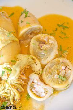 Calamares rellenos de alcachofa | afreirpimientos