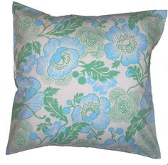 Handmade Throw Pillow with Amy Butler Fabric, Removable Cover 18x18, RESERVED FOR NICOLE