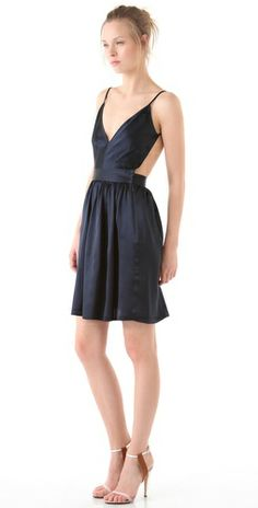 ONE by Contrarian navy cutout dress.