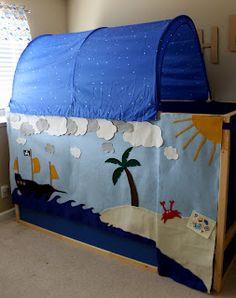Felt Pirate Fort Ikea Kura Bed