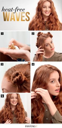 Summer #HairHack: When it's too hot for curling irons, follow these steps for heat-free waves.