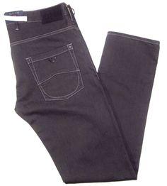 Armani Jeans J28 slim fit  twill dark gray wash size 36x34 button fly new w/tags #ArmaniJeans #ButtonFly