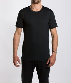 We Norwegians super fine merino wool and other hand picked Scandinavian apparel brands Crew Neck, V Neck, Tees, Mens Tops, T Shirt, Wool, Black, Fashion, Supreme T Shirt