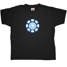 Tony Stark Power Coil Chest Kid's T Shirt - Black / 3-4 Years