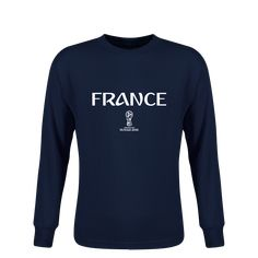 e723d4165 France 2018 FIFA World Cup Russia™ Essential Youth Long Sleeve T-Shirt  (Navy)