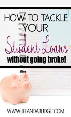Paying back your student loans may seem like an impossible task, but there is a way to get a handle on those loans without losing your mind. Here's an in depth article on how to handle your student loans. Pin and Read now so you can be debt free later!